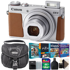 Canon Powershot G9x II Digital Camera Silver with Kids Software Accessory Kit