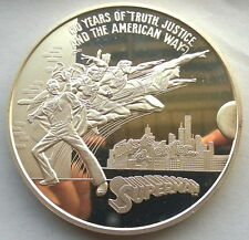 """United States 1988 """"Supper Man"""" 12oz Silver Medal,Rare!"""