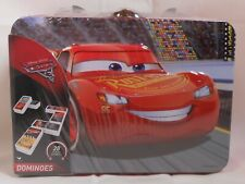 Dominos Game DISNEY CARS Metal Lunch Box 28 Tiles Educational Learning - New