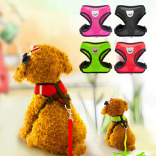 Dog Puppy Soft Mesh Harness Vest with Strap Reflective Walking Lead Leash Safety