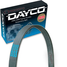 Dayco Serpentine Belt for 2000-2006 Toyota Tundra 4.7L V8 - V Belt Ribbed pq