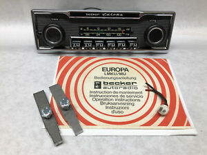 6 Button Classic Becker Europa Mono Car Radio Mercedes Porsche Restored