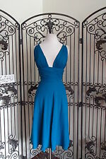 A127 FAVIANA 6037 TEAL 11-12 $190 PARTY FORMAL    COCKTAIL LENGTH  DRESS