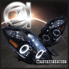 06-08 Toyota Yaris Hatchback 3DR Glossy Black Halo LED Projector Headlights
