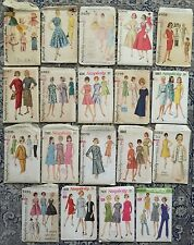 Lot of 25 Vintage SIMPLICITY 1960's Ladies Sewing Patterns Mostly Size 14 & 16
