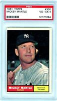 MICKEY MANTLE 1961 Topps #300 PSA 4 VG-EX NY New York Yankees HOF