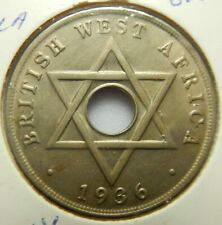 1936 BRITISH WEST AFRICA ONE PENNY - UNC - # 15/12