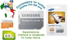 ULTRAVELOCE Samsung Micro SD 128Gb Classe 10 + Adattatore ORIGINALE