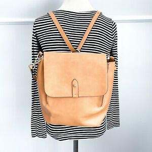 GAP Camel Convertible Backpack Purse Vegan Leather