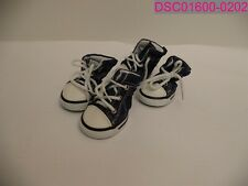Nothing but Love Dog Sneakers Canvas Shoes Medium Size Denim Blue