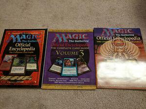 Magic the Gathering Encylopedia volume 1, 2, 3 mtg, very good