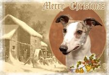 Greyhound Dog A6 Christmas Card Design XGREYHND-6 by paws2print