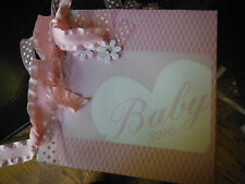 Welcome Baby Girl Premade 6x6 Paperbag Scrapbook Album 4 Mom or Grandma Gift