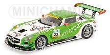 MINICHAMPS 151 113102 MERCEDES SLS AMG GT3 model car ADAC GT MASTERS 2011 1:18