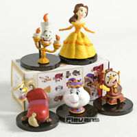LOT DE 5 FIGURINES LA BELLE ET LA BÊTE DISNEY JOUET DECORATION