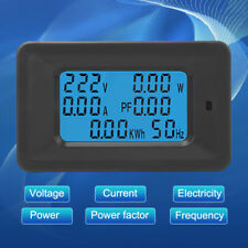 6-in-1 Digital AC Meter Voltage 110-250V Current 20A Power Factor KWH Frequency