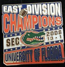 UNIVERSITY OF FLORIDA  GATORS 2008 SEC EAST CHAMPIONS WILLABEE & WARD PIN