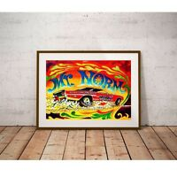 Mr. Norm's Super Charger Poster - Groovy 1960's Retro Vintage Drag Racing NHRA