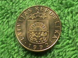 LATVIA   20 Santimu   1992   UNC  *