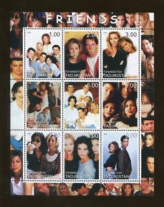 Tajikistan Commémorative Souvenir Tampon Feuille - TV Sitcom - Friends