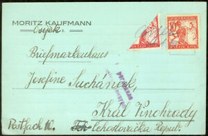 Yugoslavia SHS Slovenia Croatia 1919, Bisect on Postcard Pen Cancellation! Cens.