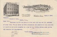 U.S. The Johnston & Larimer Dry Goods Co. 1901 Illust. Logo Paid Invoice Rf43502