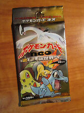 1x Japanese Pokemon Neo Genesis Set Booster Card Pack Gold Silver New World Box