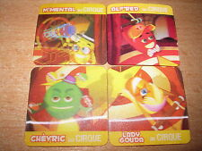 FRENCH EXCLUSIVE 3-D 3D BABYBEL CHEESE COMPLETE 4 CARDS CIRQUE SET MINT 90'