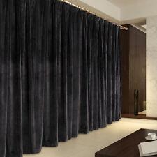A Pair Vintage Style Velvet Curtains, 2x280cmx230cm Drop,Dark Brown Color.