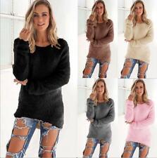 Damen Pullover Pulli Strickjacke Sweater Sweatshirt Longshirt Hoodie Tunika