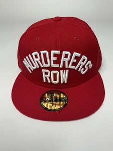 New York Yankees Murderers' Row Red New Era 59Fifty Hat Mens Size 7 1/4 NEW