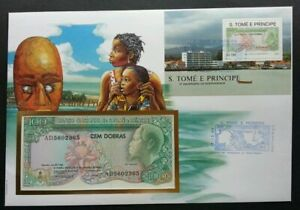 [SJ] Sao Tome 15th Anniversary Of Independence 1990 FDC (banknote cover)