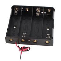 2 Pcs Black Plastic Battery Holder Case w Wire for 4 x 18650 14.8V I9L2