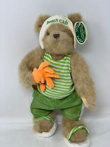 "Bearington Plush Peter & Pincher Beach Club Bear 13"" Collector Stuffed Animal"