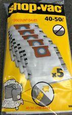 Shop vac 40-50 Litre Bags - 5 pack -  90662