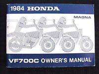 GENUINE 1984 HONDA 700 MAGNA VF700C MOTORCYCLE OPERATORS MANUAL VERY GOOD