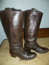 Office uk3 Size 36 Ladies Brown Leather Knee High Slouch boots leather Lined