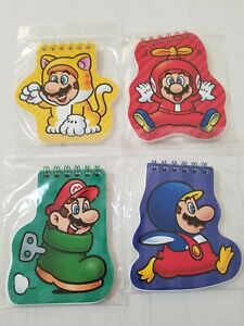 Nintendo Tokyo Super Mario Notepad x 4 Cat Boot Penguin Propellor Genuine Japan
