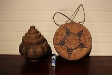 Indonesia old african baskets ancien pannier Sulawesi basket africa wicker rotin