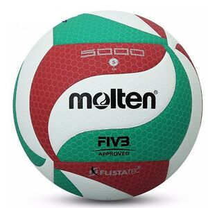 Molten Volleyball Ball Official V5 M5000 Leather Indoor Outdoor Volley Game Ball
