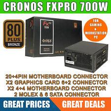 CRONUS-700W PSU ATX, FX PRO 700W 140mm Silent, 80 PLUS Bronze,FOR GAMING PC, Vat