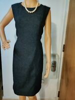 HOBBS FITTED DRESS SIZE UK 10 US 6 BLACK 60% POLYESTER 40% WOOL