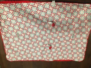 Carseat Canopy Red Minky Car Seat Cover