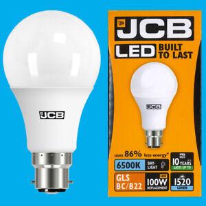 10x 14W (=100W) GLS BC B22 6500K Daylight White A60 LED Ultra Bright 1520Lm