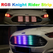 "4Pcs 24"" RGB LED Knight Rider Strip Light Under Hood Behind Grille For Chevy"