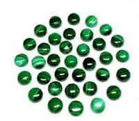 Details about  /SALE! Lovely Lot Natural Green Onyx 6x6 mm Round Rose Cut Loose Gemstone