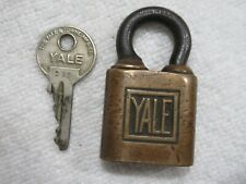 vintage brass Yale lock with key doesn't turn lot C