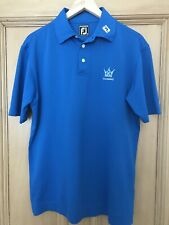 FootJoy Polo Shirt Kingsbarns Golf Links Large Cobalt Blue - Lightly Used