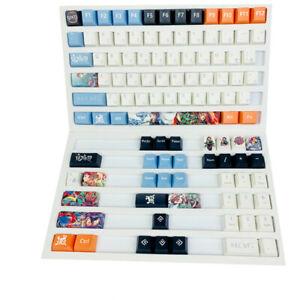 Demon Slayer Kamado Tanjirou Keycaps OEM Height 108 Keys for Mechanical keyboard