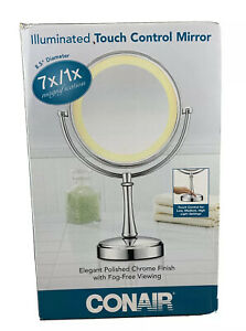 Conair ILLUMINATED Touch Control Lighted Mirror 7x/1x Magnification Silver 🎁🎁